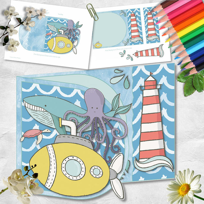 Octopus's Garden D Flap Card