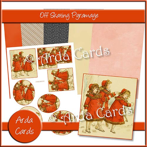 Off Skating Pyramage Set - The Printable Craft Shop