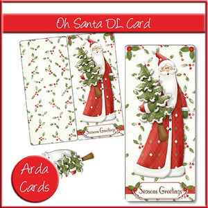 Oh Santa DL Card - The Printable Craft Shop