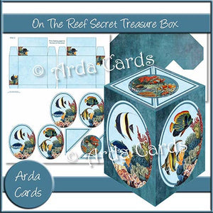 On The Reef Secret Treasure Box - The Printable Craft Shop