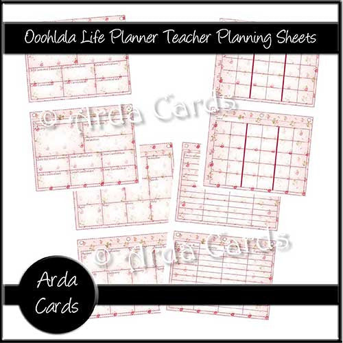 Ooohlala Life Planner Printable Teacher Planning Sheets - The Printable Craft Shop