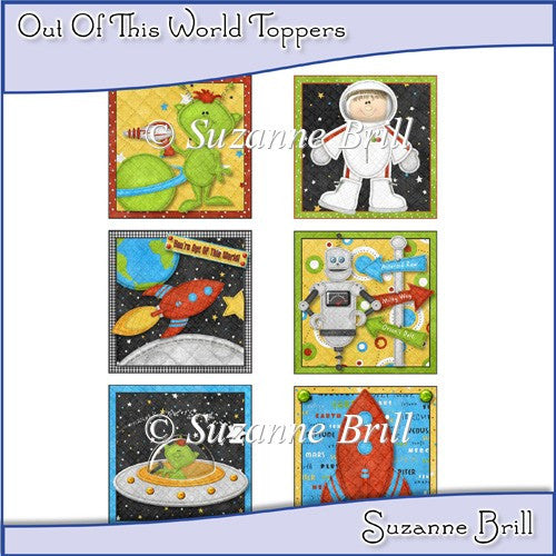 Out Of This World Toppers - The Printable Craft Shop