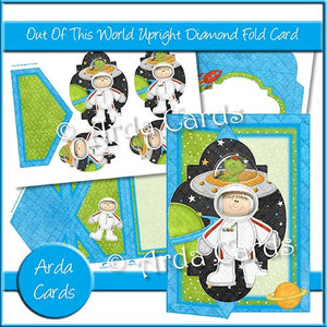 Out Of This World Diamond Fold Card - The Printable Craft Shop