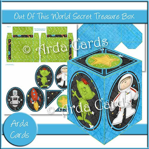 Out Of This World Secret Treasure Box - The Printable Craft Shop