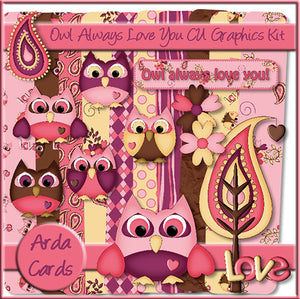 Owl Always Love You! CU Graphics Kit - The Printable Craft Shop