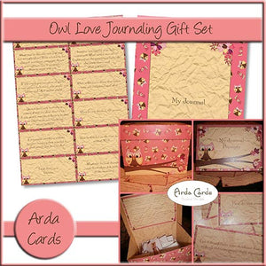 Owl Love Journaling Gift Set - The Printable Craft Shop