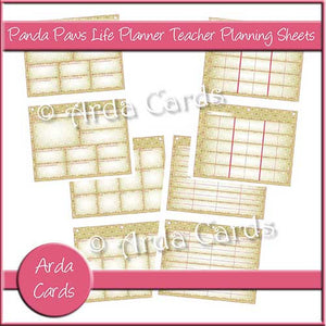 graphic about Printable Teacher Planner called Panda Paws Red Everyday living Planner Printable Trainer Building Sheets