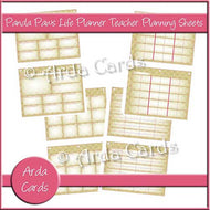 Panda Paws Pink Life Planner Printable Teacher Planning Sheets - The Printable Craft Shop