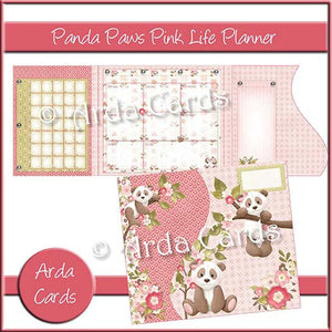 Panda Paws Pink Life Planner - The Printable Craft Shop