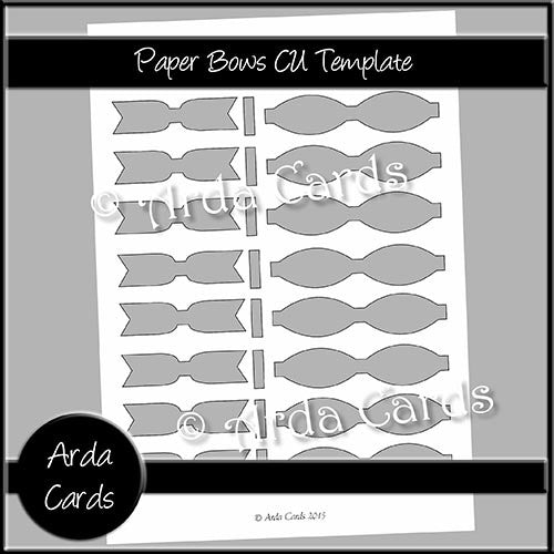 Paper Bows CU Template - The Printable Craft Shop