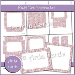 Pastel Dots Envelope Set - The Printable Craft Shop