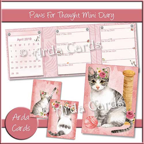 Paws For Though Mini Diary