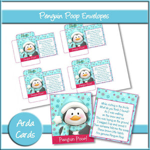 Penguin Poop Envelopes - The Printable Craft Shop