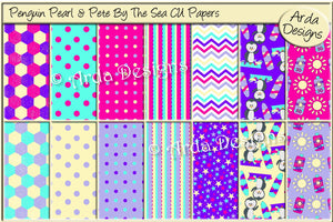 Penguin Pearl & Pete By The Sea CU Papers
