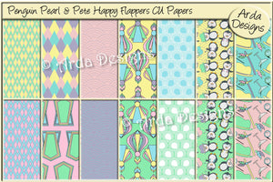 Penguin Pearl & Pete Happy Flappers CU Papers