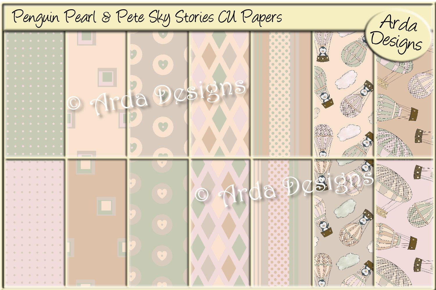 Penguin Pearl & Pete Sky Stories CU Papers