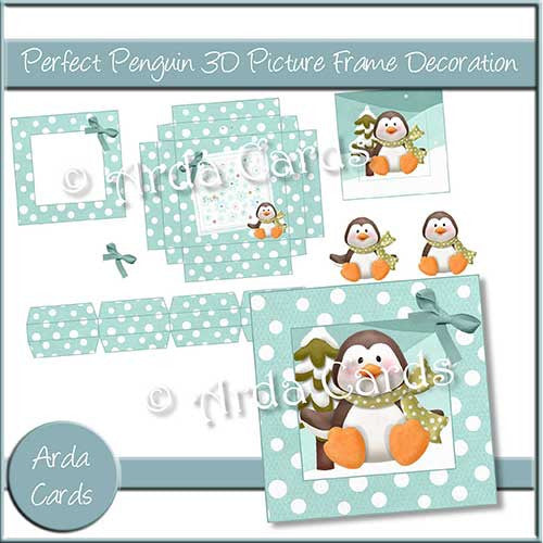 Perfect Penguin 3D Picture Frame Printable Decoration - The Printable Craft Shop