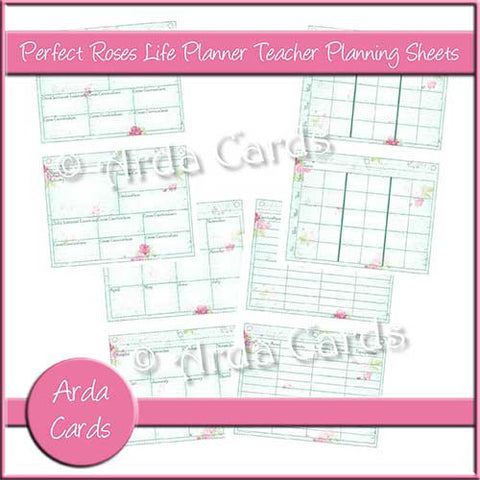 Perfect Roses Life Planner Printable Teacher Planning Sheets