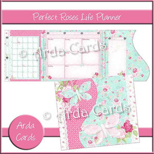 photo relating to Printable Life Planner named Great Roses Printable Daily life Planner