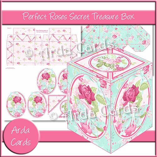 Perfect Roses Secret Treasure Box - The Printable Craft Shop