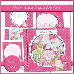 Perfect Roses Shadow Box Card - The Printable Craft Shop