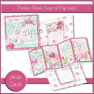 Perfect Roses Twist & Pop Card