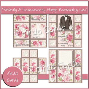 Perfectly & Incandescently Happy Neverending Card - The Printable Craft Shop