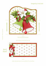 Load image into Gallery viewer, Christmas Bells Printable Easel Card with Drawer