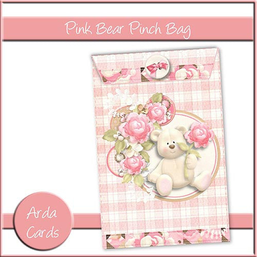Pink Bear Pinch Bag - The Printable Craft Shop