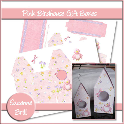 Pink Birdhouse Gift Boxes - The Printable Craft Shop
