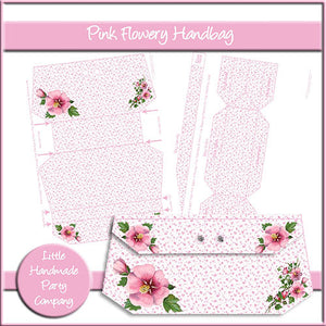 Pink Flowery Handbag - The Printable Craft Shop