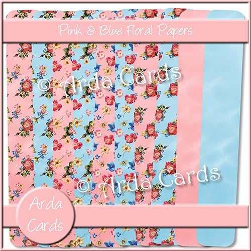 Floral Papers - The Printable Craft Shop