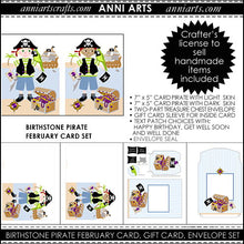 Load image into Gallery viewer, February Birthstone Pirate Printable Card Making Kit
