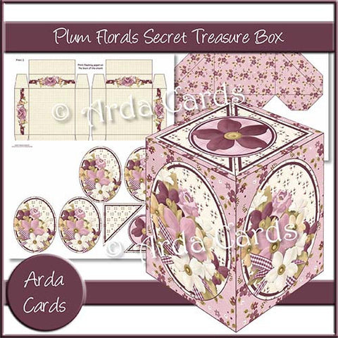 Plum Florals Secret Treasure Box