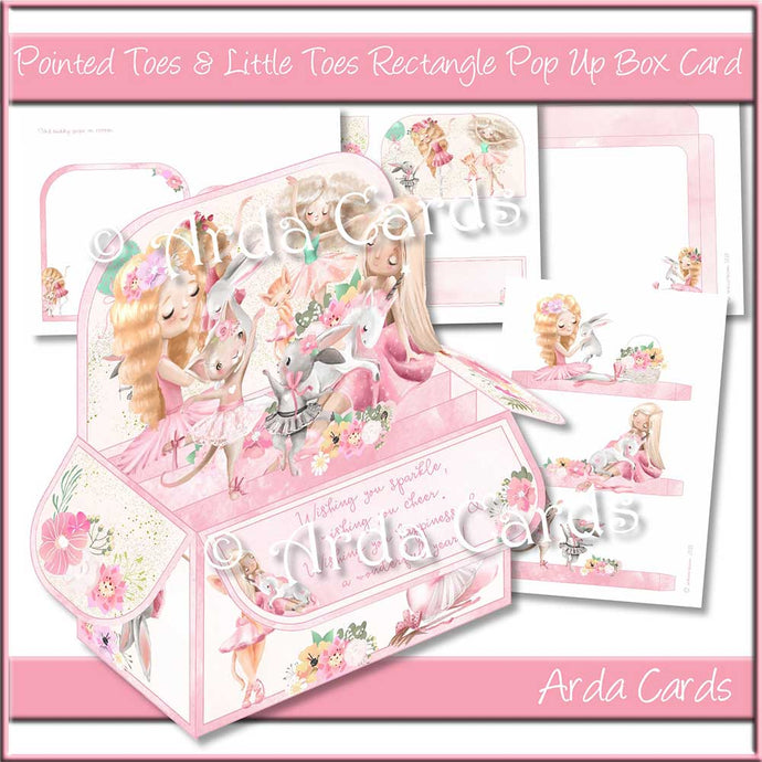 Pointed Toes & Little Nose Rectangle Pop Up Box Card