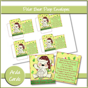 Polar Bear Poop Envelopes - The Printable Craft Shop