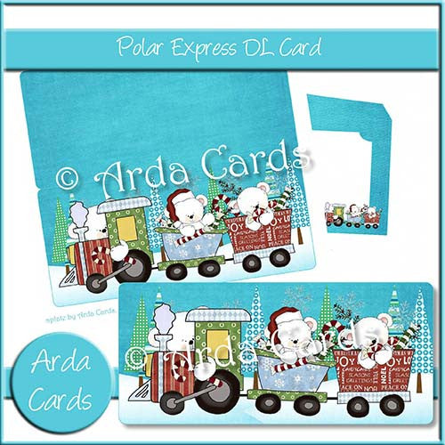 Polar Express DL Style Card - The Printable Craft Shop