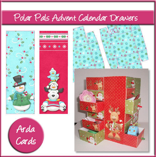 Polar Pals Advent Calendar Drawers - The Printable Craft Shop