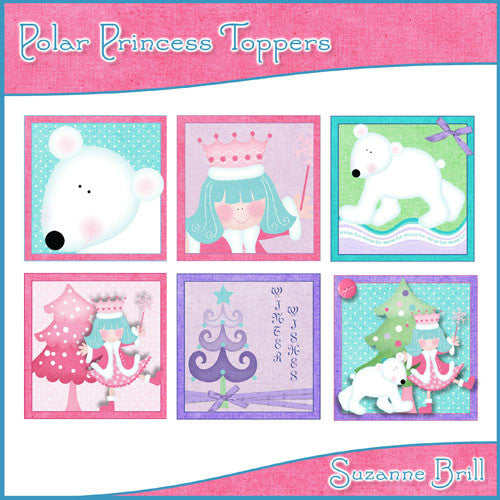 Polar Princess Toppers - The Printable Craft Shop