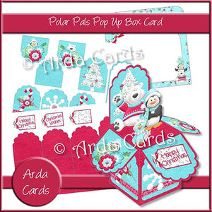 Polar Pals Pop Up Box Card