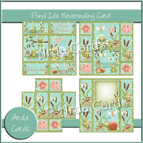 Pond Life Neverending Card - The Printable Craft Shop