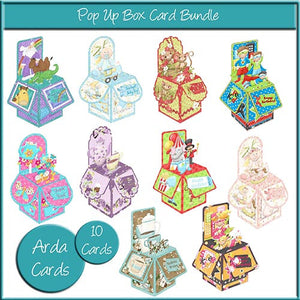 Printable Pop Up Box Card Bundle - The Printable Craft Shop