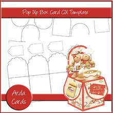 Load image into Gallery viewer, 3 Pop Up Box Card Templates [Commercial Use Design Resources] - The Printable Craft Shop
