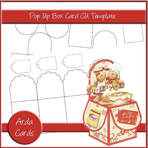 3 Pop Up Box Card Templates [Commercial Use Design Resources]