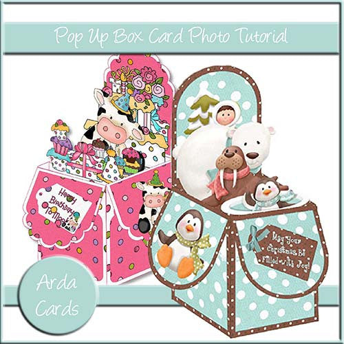 Pop Up Box Card Photo Tutorial - The Printable Craft Shop