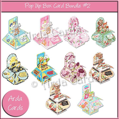 Pop Up Box Card Bundle #2