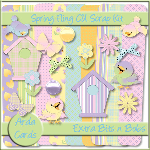 Spring Fling CU Scrap Kit Extra Bits n Bobs - The Printable Craft Shop