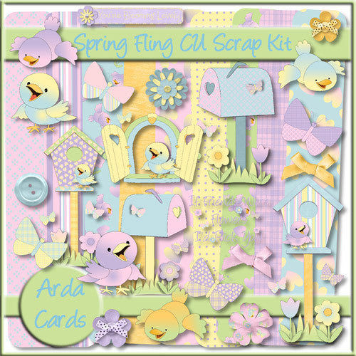 Spring Fling CU Scrap Kit - The Printable Craft Shop