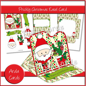 Prickly Christmas Easel Card