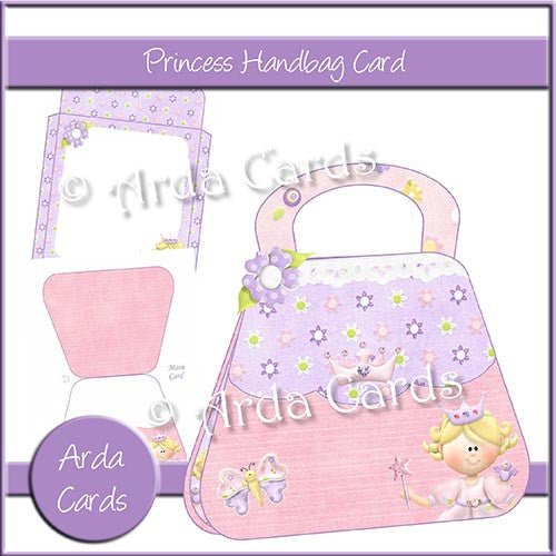 Princess Handbag Card - The Printable Craft Shop